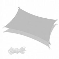Тент-парус теневой для дома, сада и туризма Springos 4 x 3 м SN1046 Grey