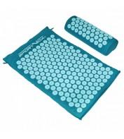 Аккупунктурный массажный коврик с валиком SportVida Аппликатор Кузнецова 66 x 40 см SV-HK0283 Blue