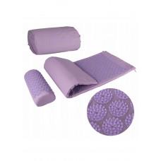 Коврик массажный с валиком SportVida Аппликатор Кузнецова 130 x 50 см SV-HK0411 Purple/Purple
