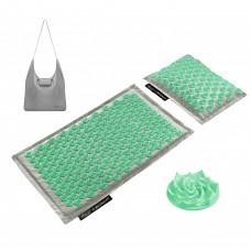 Коврик акупунктурный с подушкой 4FIZJO Eco Mat Аппликатор Кузнецова 68 x 42 см 4FJ0230 Grey/Mint