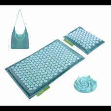 Аккупунктурный массажный коврик с валиком 4FIZJO Eco Mat Аппликатор Кузнецова 68 x 42 см 4FJ0180 Turquoise