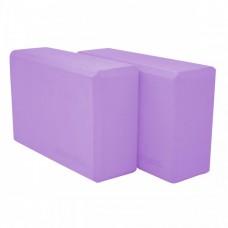 Блок для йоги (кирпич) 2 шт SportVida SV-HK0174-2 Violet