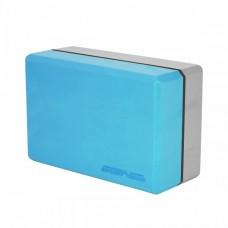 Блок для йоги (кирпич) двухцветный SportVida SV-HK0335 Blue/Grey