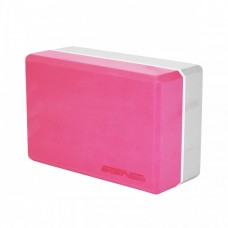 Блок для йоги (кирпич) двухцветный SportVida SV-HK0336 Pink/Grey