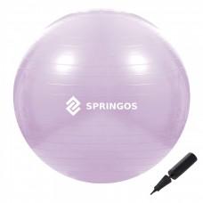 Мяч для фитнеса (фитбол) Springos 65 см Anti-Burst FB0011 Violet