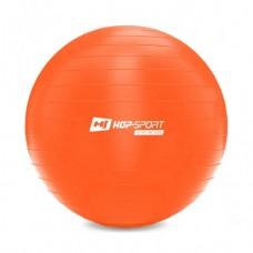Фитбол (мяч для фитнеса) Hop-Sport 55 см оранжевый + насос 2020