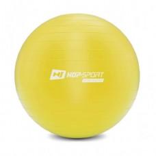 Фитбол (мяч для фитнеса) Hop-Sport 65 см желтый + насос 2020