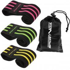 Резинка для фитнеса и спорта тканевая SportVida Hip Band 3 штуки SV-HK0365