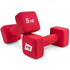 Гантели для фитнеса неопреновые квадратные Hop-Sport HS-V050DS 2х5 кг