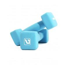Гантели для фитнеса неопреновые квадратные 2 кг LiveUp LS2002-SQ2