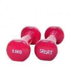 Гантели для фитнеса виниловые 0.5 кг (пара) SPART DB2113-0,5Rose