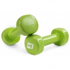 Гантели для фитнеса круглые виниловые 2х1,5 кг Hop-Sport HS-V015DC
