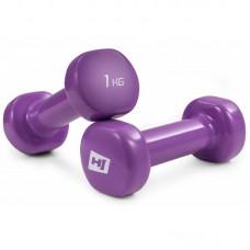 Гантели для фитнеса круглые виниловые 2х1 кг Hop-Sport HS-V010DC