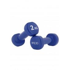 Гантели для фитнеса виниловые 4FIZJO 2 x 2 кг 4FJ0195