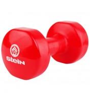 Гантель для фитнеса виниловая Stein 8.0 кг / шт / красная