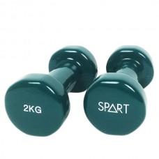 Гантели для фитнеса виниловые 2 х 2 кг SPART DB2113-2 Green