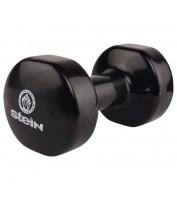 Гантель для фитнеса виниловая Stein 9.0 кг / шт / черная