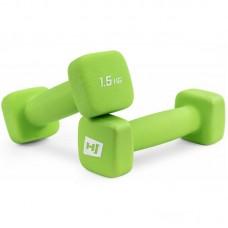 Гантели для фитнеса неопреновые квадратные Hop-Sport HS-V015DS 2х1,5 кг