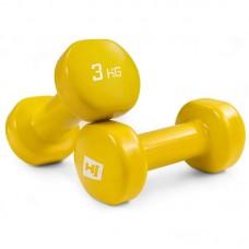 Гантели для фитнеса круглые виниловые 2х3 кг Hop-Sport HS-V030DC