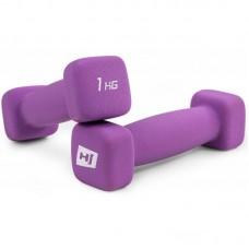 Гантели для фитнеса неопреновые квадратные Hop-Sport HS-V010DS 2х1 кг