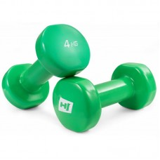 Гантели для фитнеса круглые виниловые 2х4 кг Hop-Sport HS-V040DC