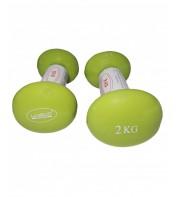 Гантели для фитнеса 2 х 2 кг LiveUp VINYL DUMBBELL EGG HEAD-2*2KG LS2001-2