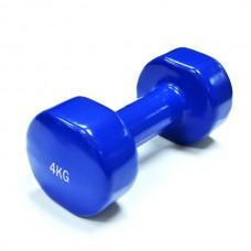 Гантели для фитнеса виниловые 4 кг (пара) SPART DB2113-4Blue