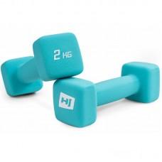Гантели для фитнеса неопреновые квадратные Hop-Sport HS-V020DS 2х2 кг