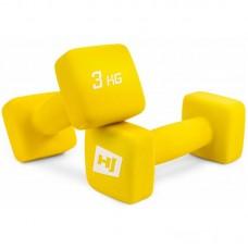 Гантели для фитнеса неопреновые квадратные Hop-Sport HS-V030DS 2х3 кг