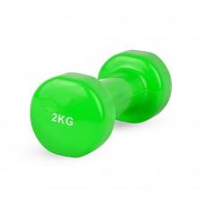Гантель виниловая Stein 2 кг / шт/ зеленая