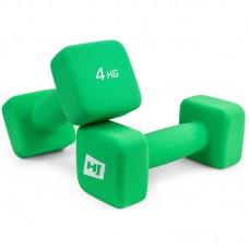 Гантели для фитнеса неопреновые квадратные Hop-Sport HS-V040DS 2х4 кг