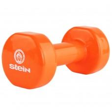 Гантель виниловая Stein 4.0 кг / шт/ оранжевая