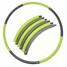 Хулахуп обруч для похудения массажный 90 см 0,7 кг SportVida SV-HK0214 Grey/Green