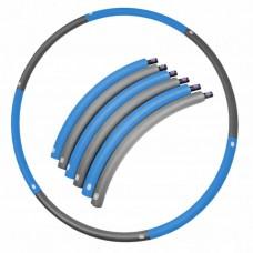 Хулахуп обруч для похудения массажный 90 см 0,7 кг SportVida SV-HK0216 Grey/Blue