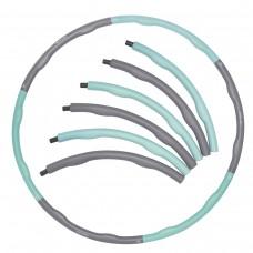 Хулахуп обруч для похудения массажный SportVida 100 см 1.2 кг SV-HK0337 Grey/Sky Blue