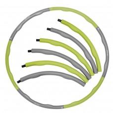 Хулахуп обруч для похудения массажный SportVida 100 см 1.2 кг SV-HK0339 Grey/Green