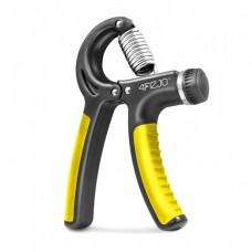 Эспандер кистевой пружинный с регулируемой нагрузкой 4FIZJO 10-40 кг 4FJ0160 Black/Yellow