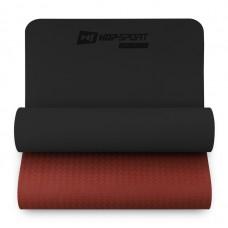 Коврик для фитнеса TPE 0,6 см Hop-Sport HS-T006GM Черно-красный