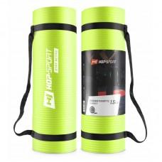 Коврик для фитнеса и йоги Hop-Sport HS-N015GM 1,5 см салатовый