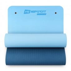 Фитнес-коврик с отверстиями Hop-Sport TPE 0,8 см HS-T008GM сине- голубой