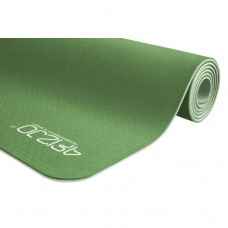 Коврик для йоги и фитнеса 4FIZJO TPE 6 мм 4FJ0142 Green/Grey
