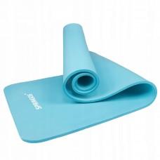 Коврик (мат) для йоги и фитнеса Springos NBR 1 см YG0033 Sky Blue