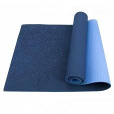 Коврик (мат) для йоги и фитнеса Sportcraft TPE 6 мм ES0054 Blue/Sky Blue