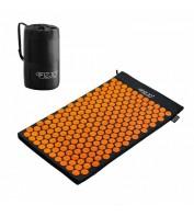 Аккупунктурный массажный коврик 4FIZJO Аппликатор Кузнецова 72 x 42 см 4FJ0041 Black/Orange