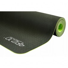 Коврик для фитнеса и йоги 4FIZJO TPE 6 мм 4FJ0032 Black/Green