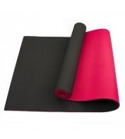 Коврик (мат) для йоги и фитнеса Sportcraft TPE 6 мм ES0018 Black/Red