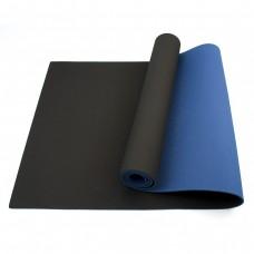 Коврик (мат) для йоги и фитнеса Sportcraft TPE 6 мм ES0019 Black/Blue