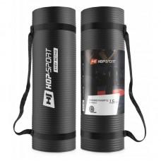 Коврик для фитнеса и йоги Hop-Sport HS-N015GM 1,5 см черный