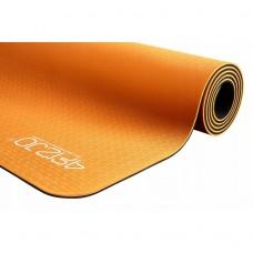 Коврик для фитнеса и йоги 4FIZJO TPE 6 мм 4FJ0034 Orange/Black