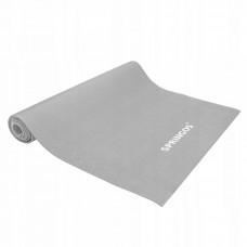 Коврик (мат) для йоги и фитнеса Springos PVC 4 мм YG0037 Grey